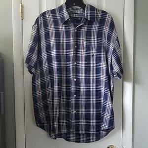 Nautica linen blend casual shirt